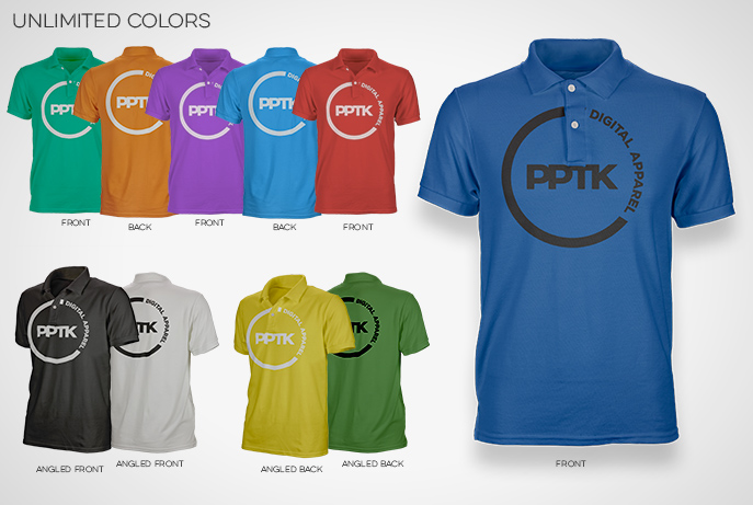 polo shirt template colors mens womens photoshop