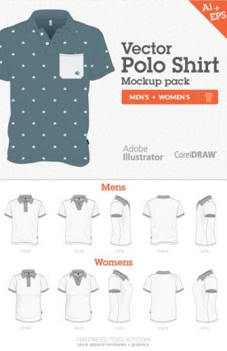 vector polo shirt mockup templates mens womens 02