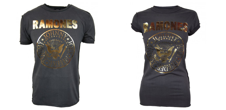 Amplified vintage ramones gold foil t-shirt