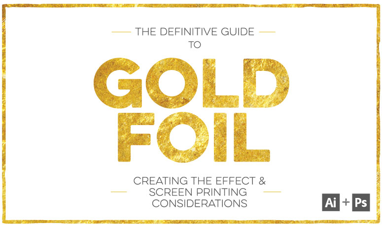 Gold Foil Effect Adobe Illustrator Poster