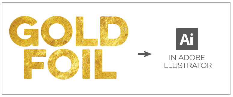 Gold Foil Effect Adobe Illustrator Step 01