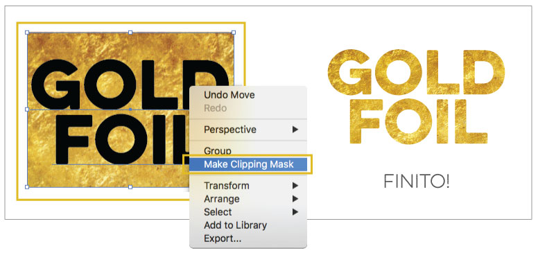 Gold Foil Effect Adobe Illustrator Step 03