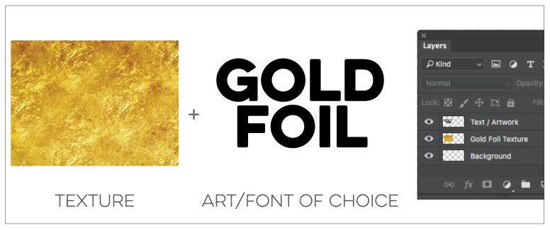 Gold Foil Effect Adobe photoshop Step 06