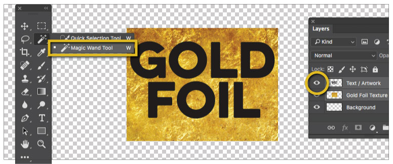 Gold Foil Effect Adobe photoshop Step 07