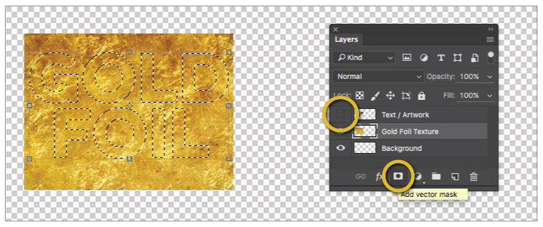 Gold Foil Effect Adobe photoshop Step 08