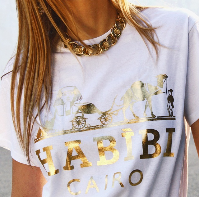 Habibi Cairo White and Gold