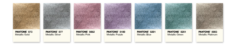 Pantone Metallic Inks samples