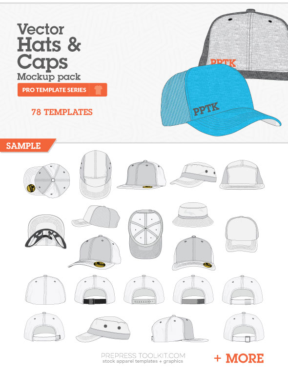 hats caps mockup templates vector master collection 07