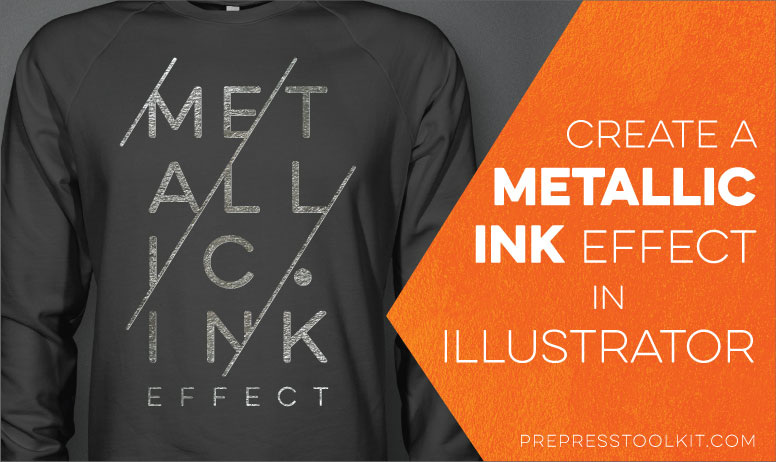 metallic silver ink effect adobe Illustrator POSTER 01