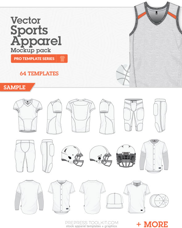 sports apparel mockup templates vector master collection 05