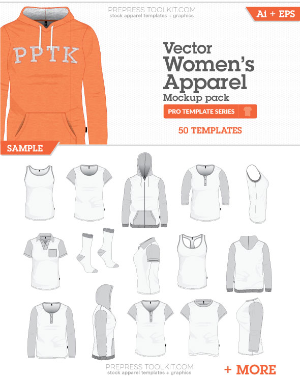 womens apparel mockup templates vector master collection 04