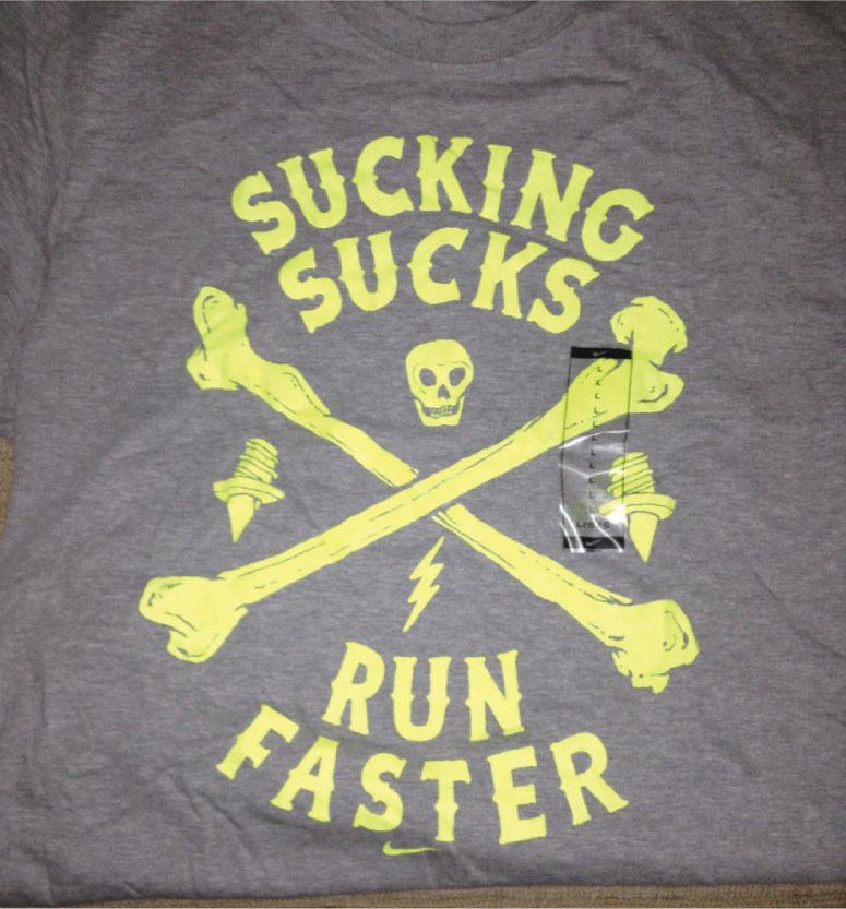nike running tee fluorescent print example