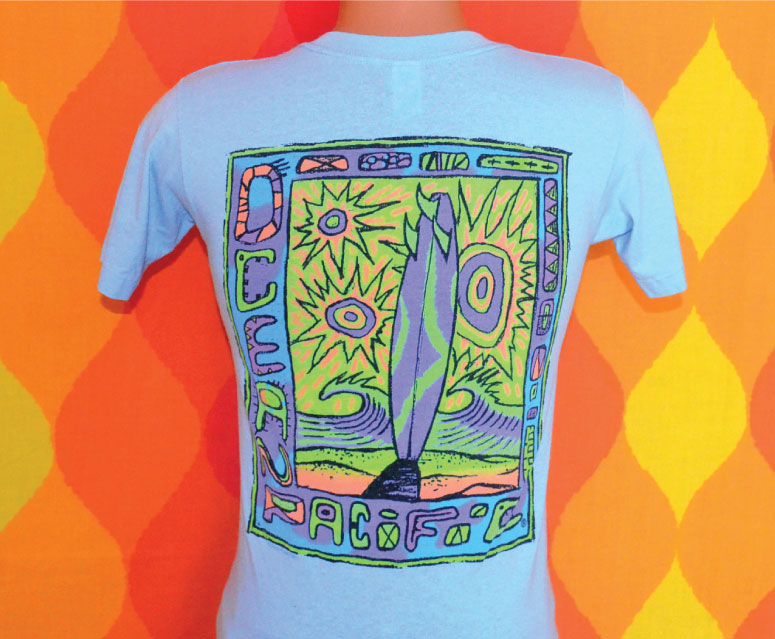 retro 80s neon screenprint t-shirt example