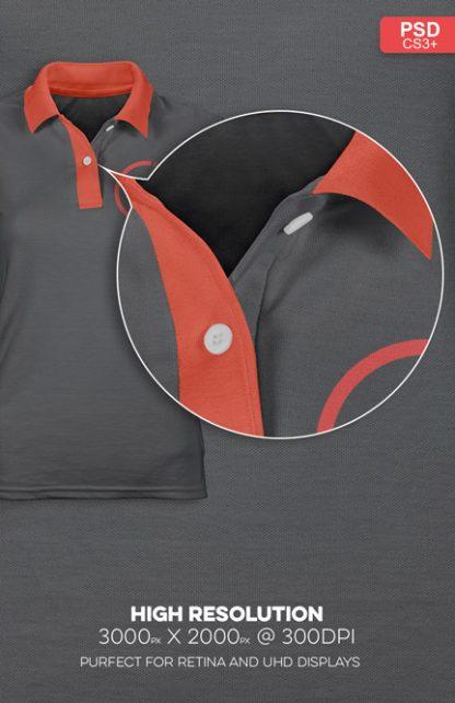 womens polo shirt mockup high resolution photoshop v2