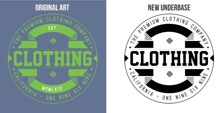 09 creating an underbase adobe illustartor tutorial t-shirt design