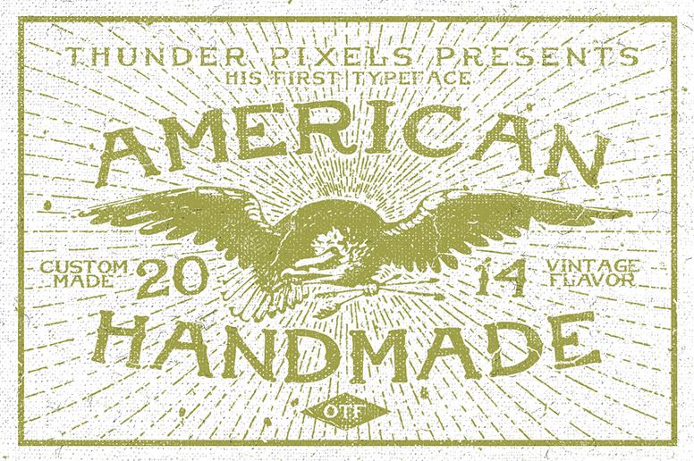 01_02 american handmade font t-shirt download