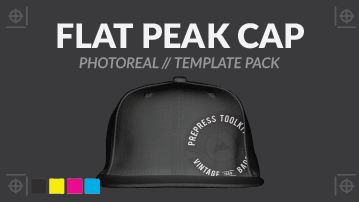 Flat peak cap photo real template psd