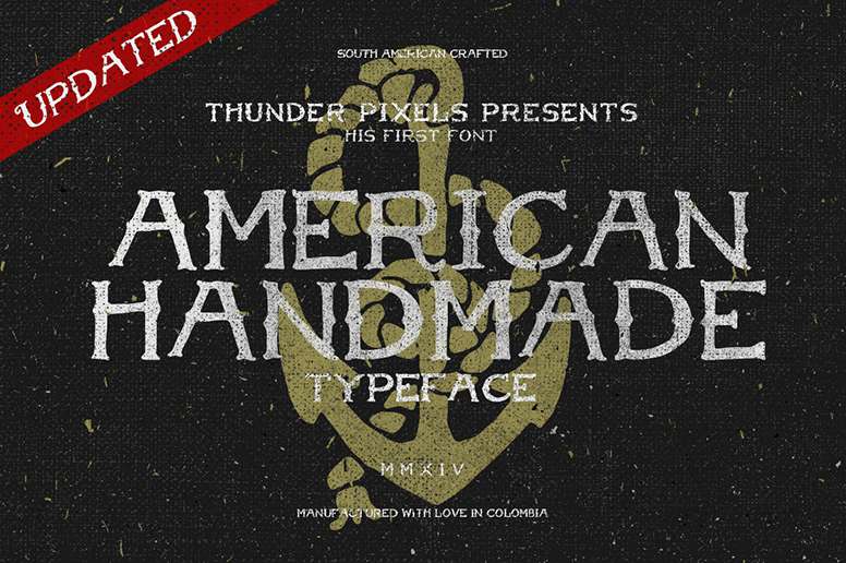 02 01 American Handmade Font Handcarfted Download