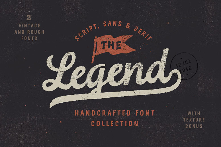 03 the legend font handcrafted collection download
