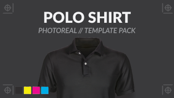 Ghosted polo shirt template psd