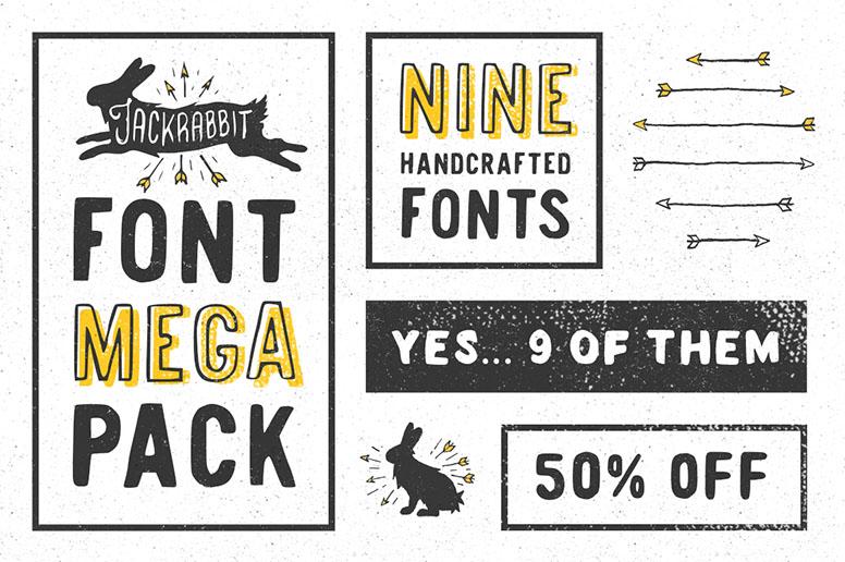 04_01 jackrabbit font t-shirt design font inspiration download