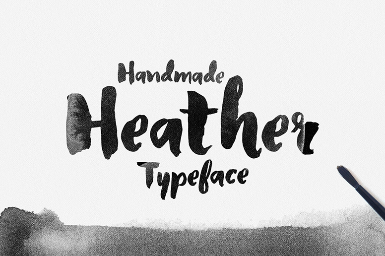 06_01 Heather font handmade type download