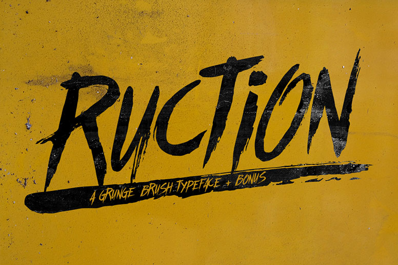 10_01 ruction font download handmade typeface