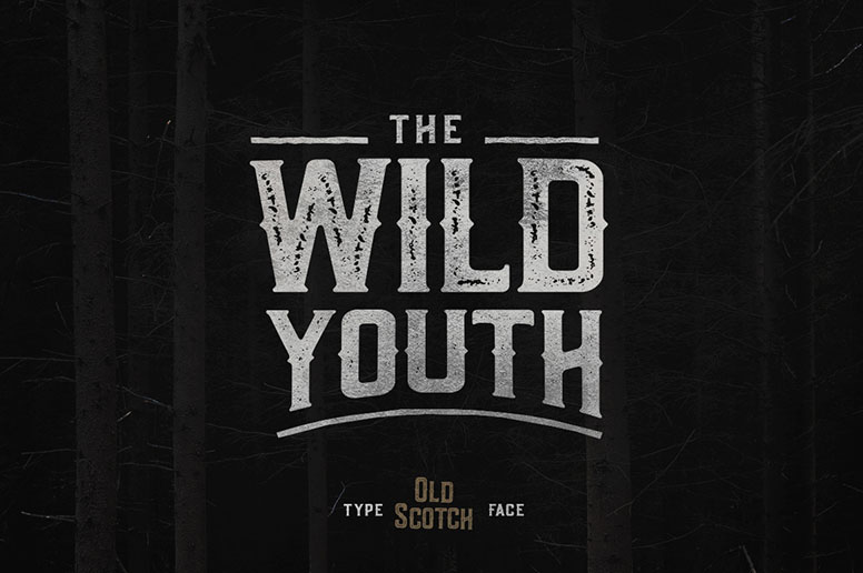 11_01 old scotch font download handmade typeface