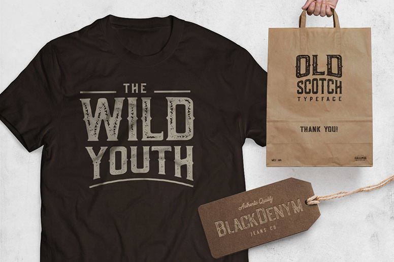 11_01 old scotch font download t-shirt design logo