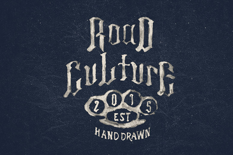 Road culture font handmade texture download
