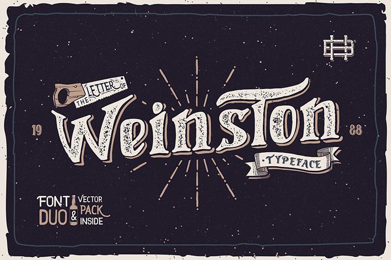 Weinston font download handmade