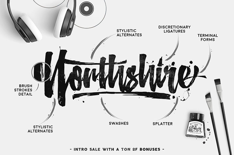 Northshire Script Font Download Handmade Typography