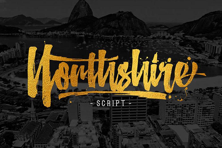 Northshire script font download t-shirt logo design