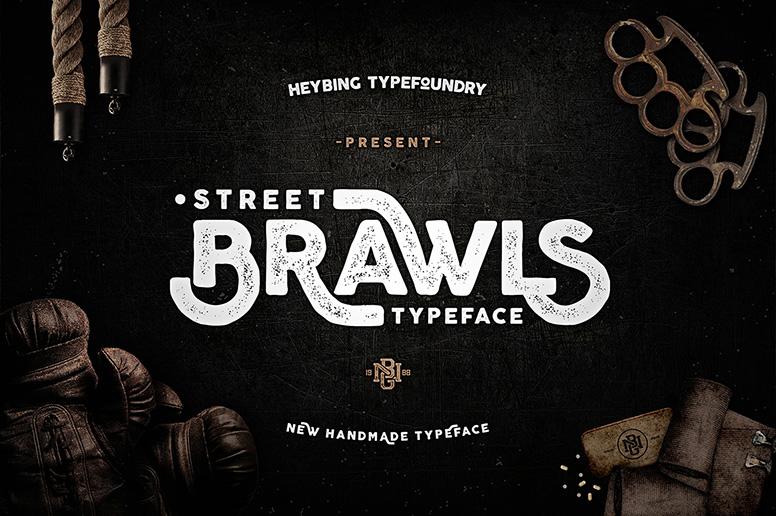 Brawls font download handmade typeface