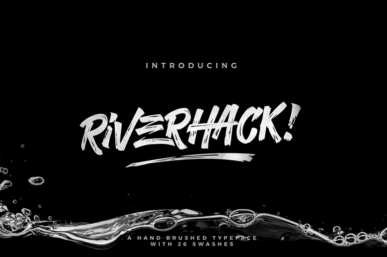 Riverhack font download handmade typeface
