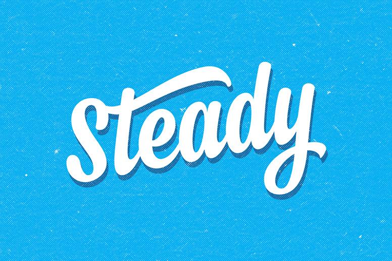 Steady script handmade brush font 2017