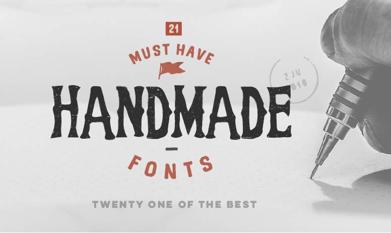 21 must have handmade fonts TMB