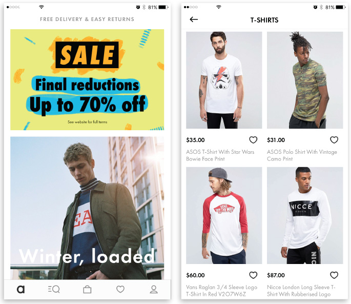 best iOS apps for designers ecommerce asos app