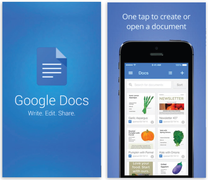 best iOS apps for designers ecommerce google docs app