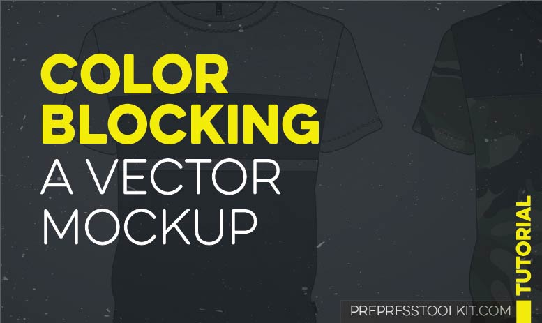 color blocking vector clothing mockup illustrator TMB
