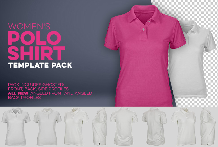 womens polo shirt template photoshop download