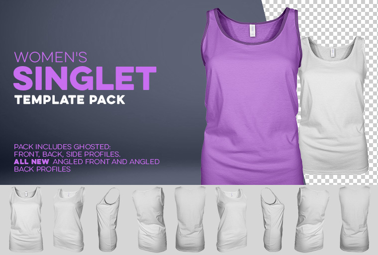 womens singlet template photoshop download