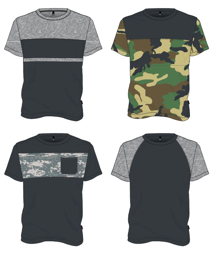 how to color block t-shirt clothing design chest samples