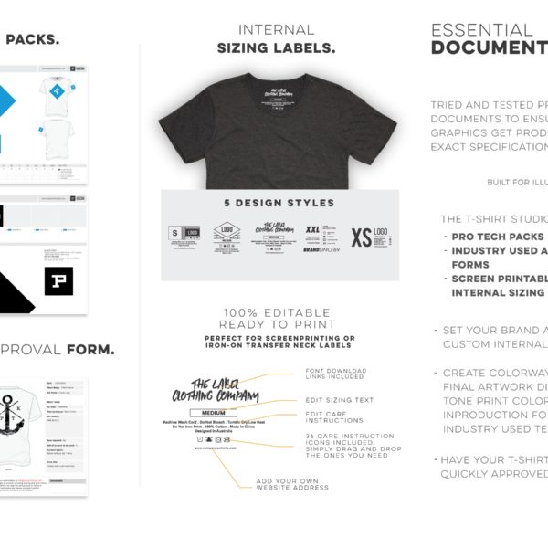 t shirt studio pro clothing tech pack sizing tags artwork approval 05