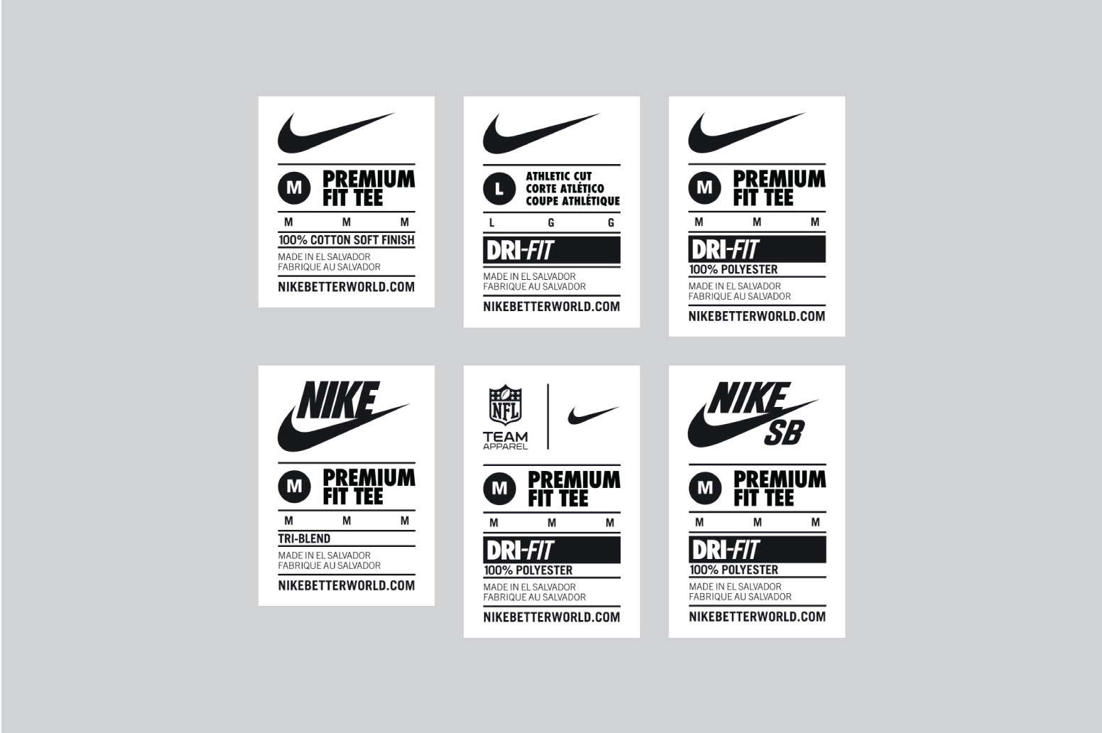 001 nike internal size tag t-shirt apparel design