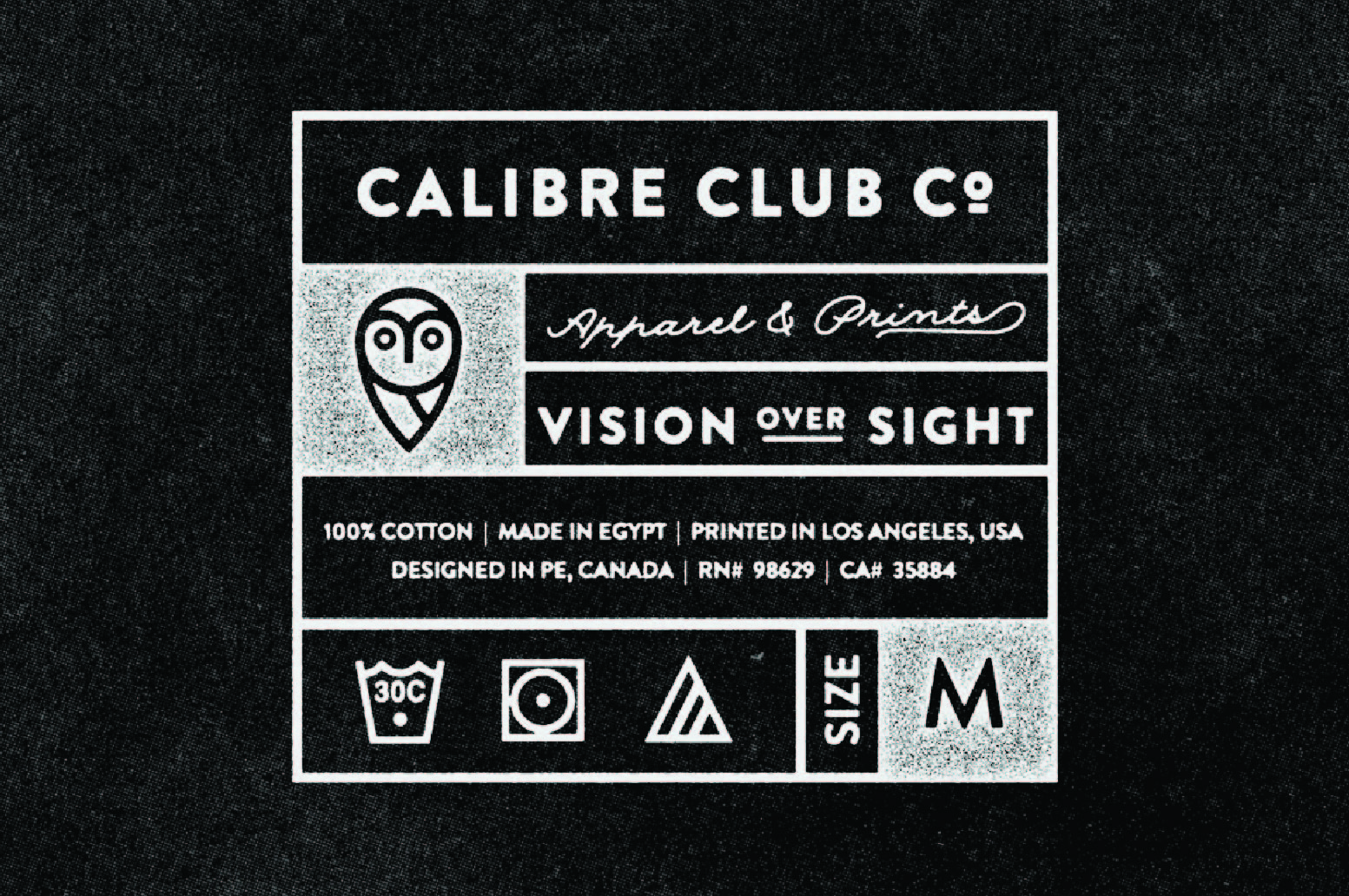 03 internal sizing tag t-shirt calibre club