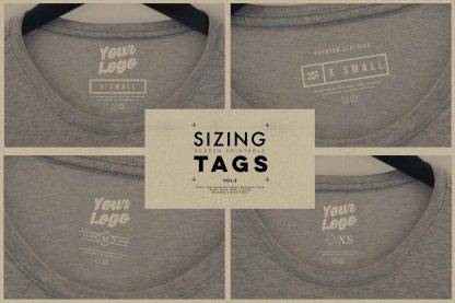clothing t-shirt internal sizing tag templates VOL2 02