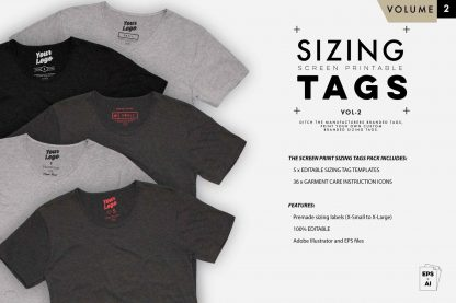 inside t-shirt sizing label templates VOL2 03
